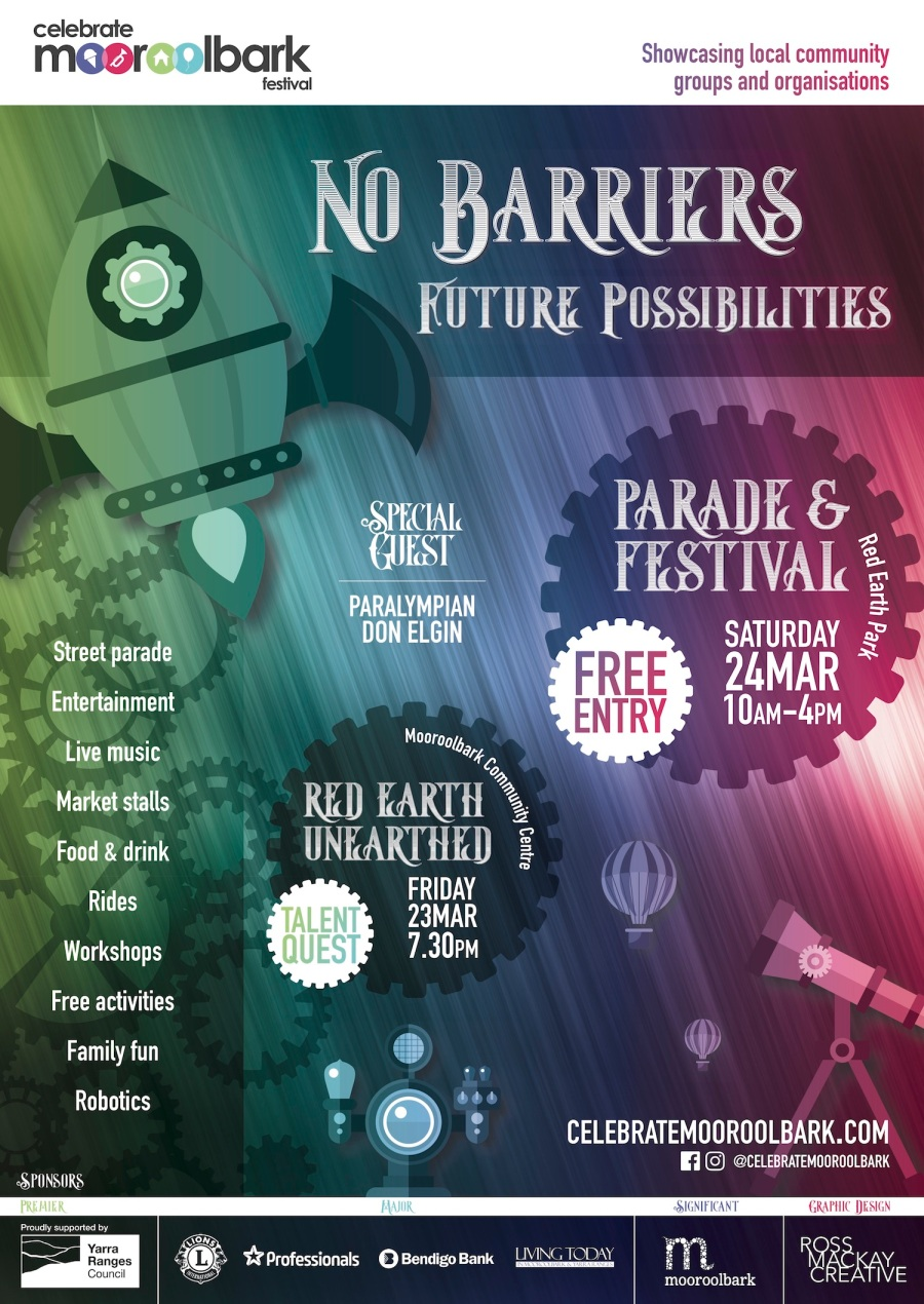 Celebrate Mooroolbark 2018, No Barriers, Future Possibilities